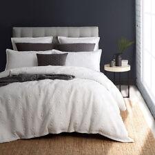 Royal Doulton Kalvin White Geometric Queen Size Bed Doona Duvet Quilt Cover Set