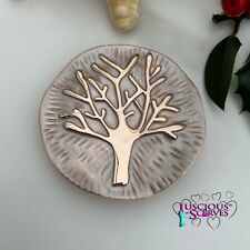 MAGNETIC BROOCH SCARF PIN CLIP,  ROSE GOLD MULBERRY TREE, TREE OF LIFE DESIGN