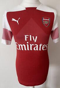 Arsenal 2018/19,Home,Puma,Large Player Issue Version Footbal Shirt...
