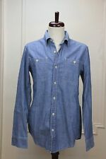 Levi's rugged slim fitted light blue chambray work shirt: S