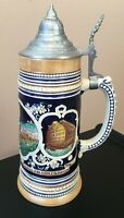 **Vintage WEKARA LIDDED GERMAN BEER STEIN HANDPAINTED Stien