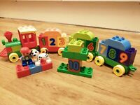 Lego DUPLO Number Train With  Figure And Dog BRICKS COMPLETE XMAS FREEPOST