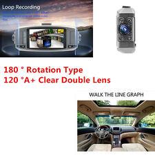 HD 120 ° Lente Doble Coche DVR Cámara en Tablero Portátil Grabadora Visión Nocturna IR Sensor G