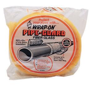 "Wrap-On 1/2"" Pipe Gaurd Insulation 25 ft. L Fiberglass Insulate hot & cold pipe"