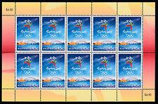 2000 AUSTRALIA POST MINI SHEET-LET 'SYDNEY OLYMPICS LOGO' 10 x 45c STAMPS - MNH