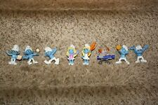 Smurfs Action Figures Lot of 8 Smurf Toys Blue