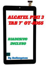"VETRO+TOUCH SCREEN PER ALCATEL ONE TOUCH PIXI 3 TAB 7"" 8055 OT-8055 NERO TABLET"