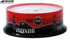 Maxell DVD-RW 4.7GB 2x Speed 120min Rewritable DVD Discs in Spindle Pack 25