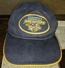 CCM CENTER ICE NHL HOCKEY NASHVILLE PREDATORS HAT BALL CAP #1 APPAREL 100%COTTON