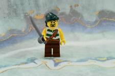 Lego Mini Figure Pirates Brown Legs and Dark Green Rag Hat from Set 6239