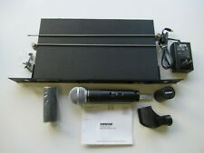 Shure LX88-II-E Receiver & SM58 Wireless Microphone 169.445MHz Tested