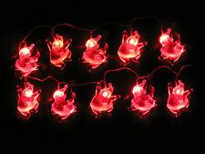 LED Motiv Lichterkette Weihnachtsmann rot 10er für Aussen