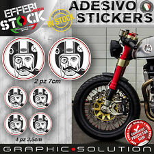 Adesivi Stickers Kit CAFE RACER GENTLEMANS RIDE TRIUMPH DUCATI BMW HONDA BOBBER