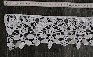 Scheibengardine Vorhang Häkel LANDHAUS 34105 weiß  15 cm hoch 120 cm breit