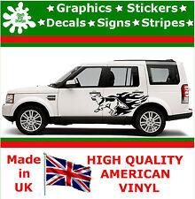 German Shepherd Car Side Flame Set of 2 Graphics 4x4 Decal Vinyl Sticker Van 90