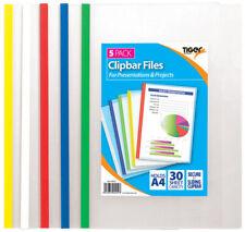 A4 Clip Bar Slide Binder Side Bound File Presentation Folders Clipbar - Pack 5