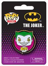 OFFICIAL DC COMICS BATMAN: THE JOKER POP! HEROES PIN BADGE (NEW)