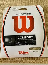 Wilson Sensation 17 Gauge 1.25mm Tennis String NEW Natural