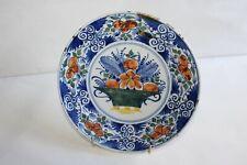 Assiette en faïence de Delft époque fin 18 ème siècle 22.5 cm