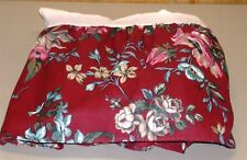 """JC Penney Floral Bed Skirt ~ 13"""" Drop ~ Burgundy Multi~ Twin"""
