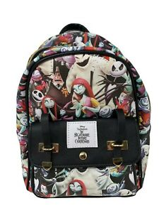 """Nightmare Before Christmas - 11"""" Faux Leather Mini Backpack - A18627"""