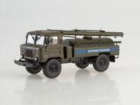 Scale model truck 1:43 GAZ-66 AC-30 emergency-water utility khaki 1971