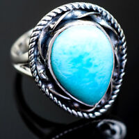 Larimar 925 Sterling Silver Ring Size 8.25 Ana Co Jewelry R995237F