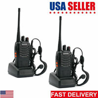 2Pack Baofeng BF-888S UHF 5W Handheld CTCSS HT Two-way Radio Ham Walkie Talkie