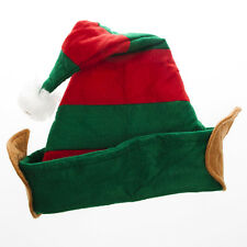 Christmas ELF HAT WITH PIXIE EARS IN RED & GREEN - CHRISTMAS FANCY DRESS GROTTO