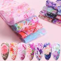 10pcs Nail Art Stickers Starry Sky Nail Foil Holographic Decals Manicure Decor