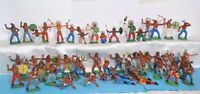 4 Vintage rare Collection Rubber Indians 52pcs GDR Germany 70's