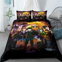 My Hero Academia Single/Double/Queen/King Bed Doona/Quilt/Duvet Cover Set Linen