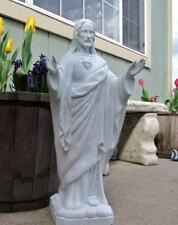 Jesus Statue Sacred Heart Blessing 24 inch Indoor Outdoor Garden Indestructible