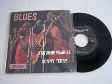 EP 4 TITRES VINYL 45 T , BROWNIE MC GHEE ET SONNY TERRY , BLUES . VG + / VG ++.