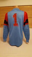Erima Vintage Retro Torwart Trikot Nr. 1 blau Shirt Jersey Maglia Goalkeeper
