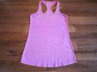 LULULEMON RACERBACK TANK CRB IN HEATHERED PINK SIZE 8 with ombre stitching