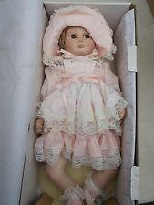 "BABY BECKY Porcelain 18"" Girl Doll by Dina Rose World Gallery DR-01 in box"