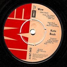 KATE BUSH Wow Vinyl Record 7 Inch EMI 2911 1978 EX