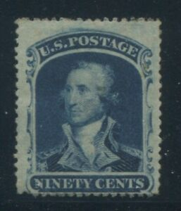 1860 United States Postage Stamp #39 Mint Hinged F/VF Original Gum Certified