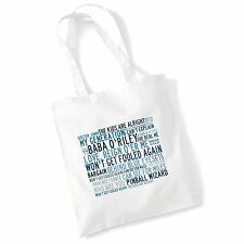 Art Studio Tote Bag THE WHO Lyrics Print Album Mod Poster Gym Beach Shopper Gift