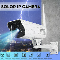 1080P HD Solar IP Kamera Drahtlose Überwachungskamera WIFI Wasserdicht IP67