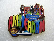 AMSTERDAM,Hard Rock Cafe Pin,Greetings From Series