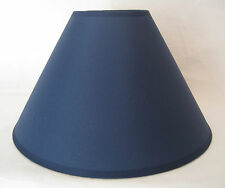 "BRAND NEW 12"" COTTON COOLIE PENDANT OR TABLE LAMPSHADE IN NAVY BLUE COLOUR"