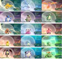 Pokemon Lets Go Pikachu & Eevee Shiny All 153 + Alolan  - 12 Pack - You Choose
