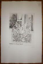 Courmes Alfred gravure originale signée art Pompidou Musée d'art moderne art