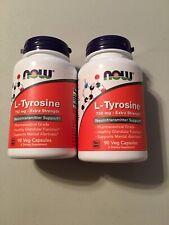 Now Foods: L-Tyrosine Neurotransmitter Support 750 mg, 90 Caps (2 pack) New