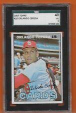 1967 Topps Orlando Cepeda St. Louis Cardinals #20 Sgc Graded 3