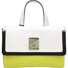 Baldinini Made in Italy luxury fashion yellow white black leather Bag $550