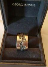 £4500 Georg Jensen 18ct White Gold & Black Pave Diamond 3 Piece Fusion Ring