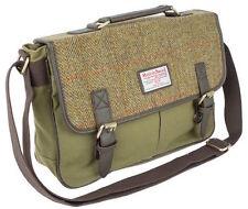 Harris Tweed & Canvas Verde Borsa a tracolla donna o gentiluomo la valigetta